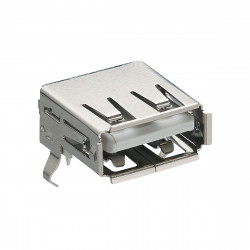 Receptacle 4 Ways USB 2.0 Surface Mount LUMBERG 2410 06 USB Connector Right Angle USB Type A 5 pieces